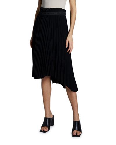 Plisse Velvety Crepe Skirt