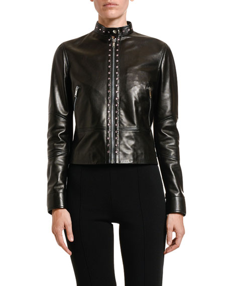 Valentino Studded Leather Moto Jacket