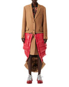 Burberry Camel Hair Coat with Detachable Puffer Combo