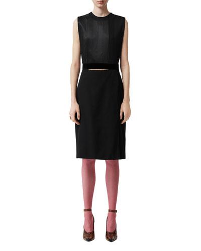 Silk Double-Skirt Dress