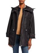 Burberry Craig Nylon Hooded Parka w/ Detachable Vest