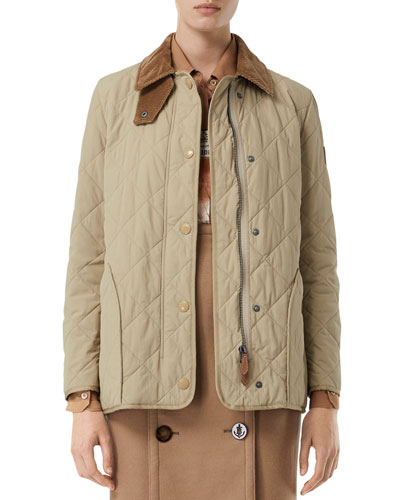 Quilted Barn Jacket, Beige