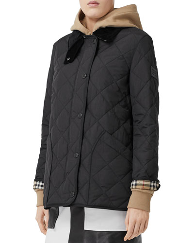 Quilted Barn Jacket, Black