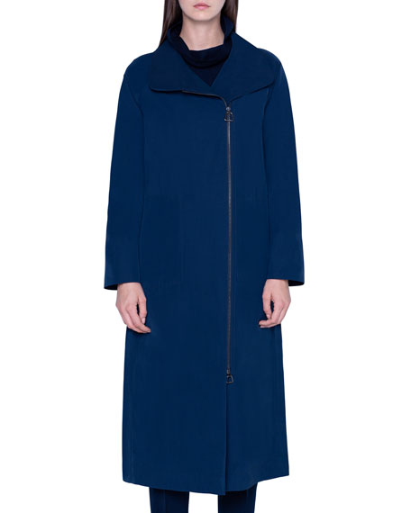 Akris Taffeta Water-Repellant Coat