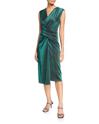 Gretchen Shimmer Wrap Dress