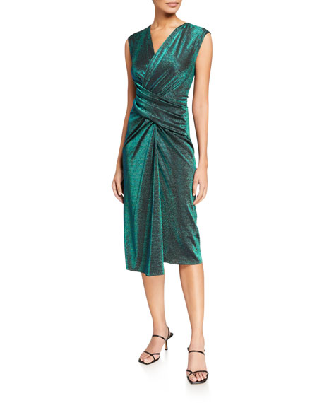Sies Marjan Gretchen Shimmer Wrap Dress