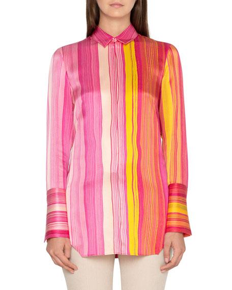Akris Printed Silk Twill Blouse