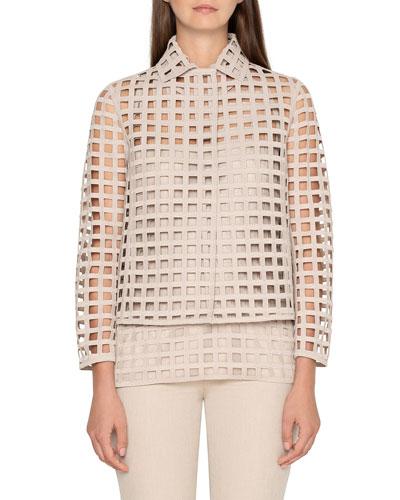 Fae Grid-Lace Jacket