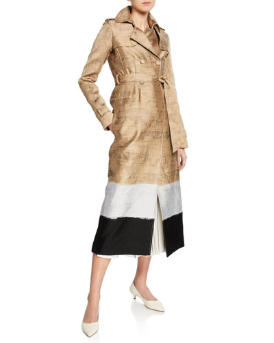 Ceuta Colorblocked Trench Coat