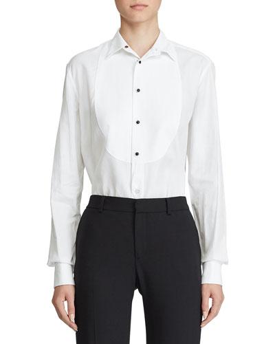 Marlie Bibbed Tuxedo Shirt