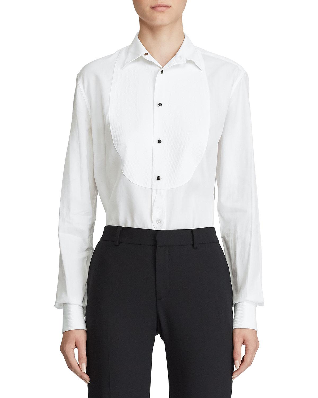 Ralph Lauren T-shirts MARLIE BIBBED TUXEDO SHIRT