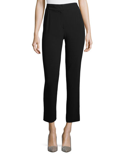 Cropped Stretch-Wool Pants
