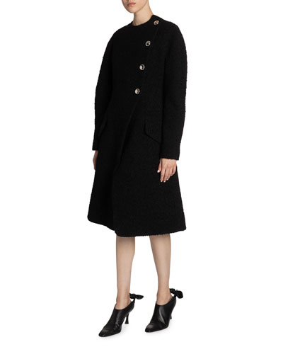 Bonded Boucle Tweed Coat