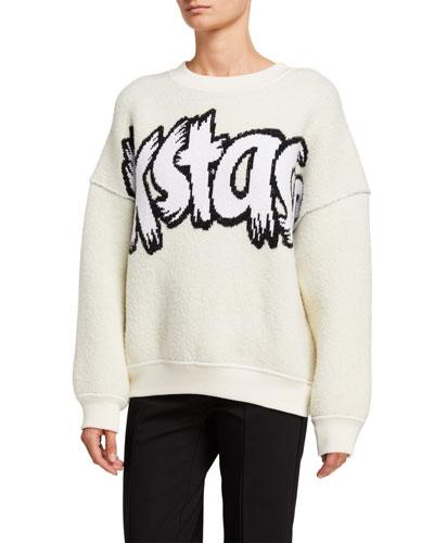 EXSTAS Logo-Print Sweatshirt