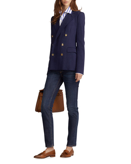 Ralph Lauren Collection Camden Stretch-Wool Double-Breasted Jacket