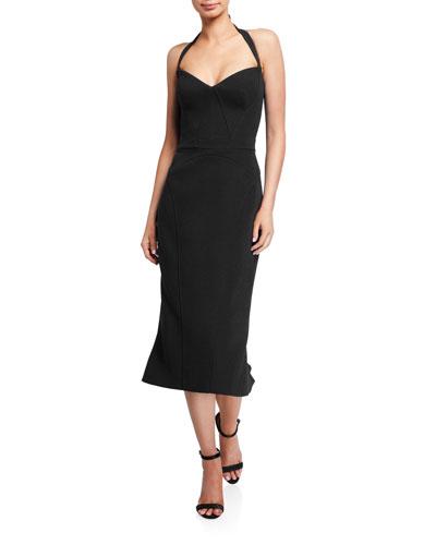 Halter-Neck Sweetheart Sheath Dress