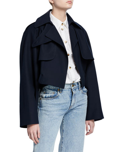 Krista Cotton Cropped Trench Jacket