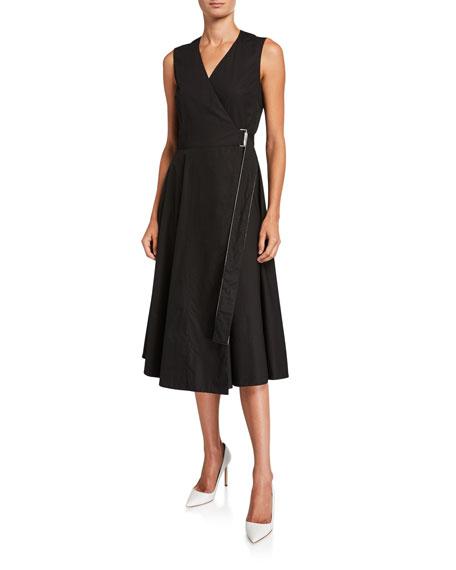 Rosetta Getty Cotton Belted Wrap Dress