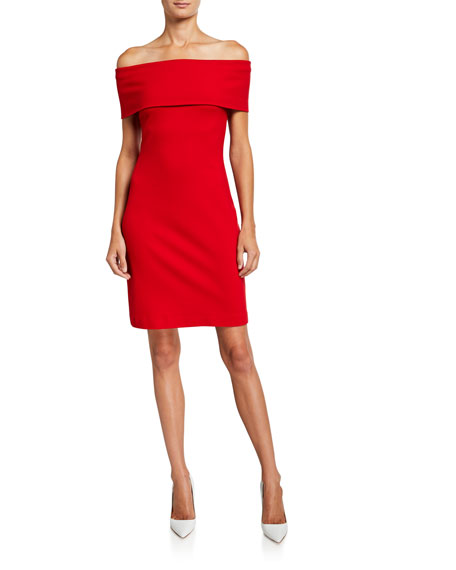 Rosetta Getty Banded Off-the-Shoulder Dress