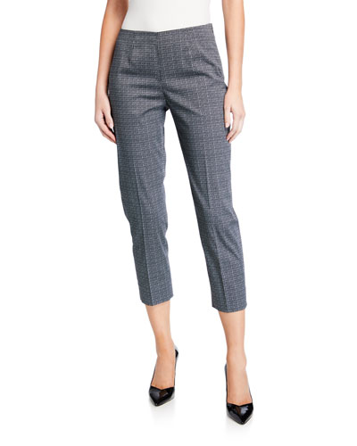 Audrey Micro Foulard-Print Pants