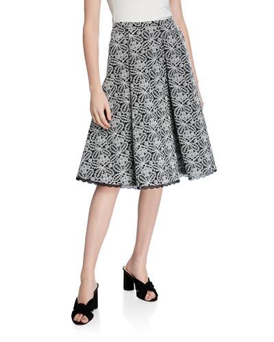 Lace Overlay Full Skirt