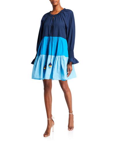Bella Colorblocked Short Cotton Dress
