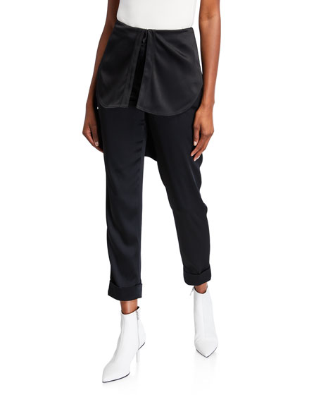 Hellessy Kooning Trousers with Shirttail Overlay