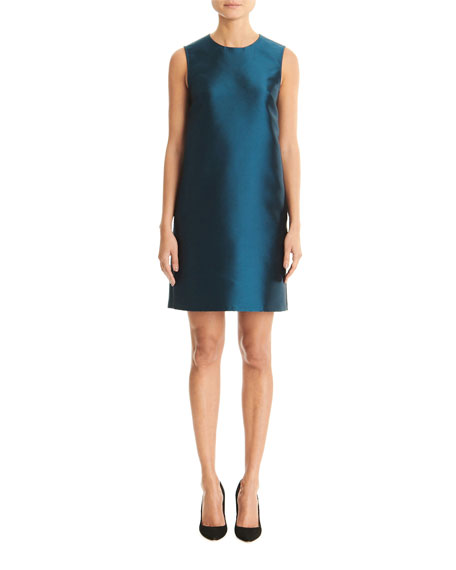 Carolina Herrera Silk Taffeta Sleeveless Shift Dress
