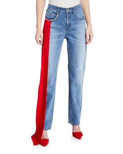 Carrington Embellished Straight-Leg Jeans