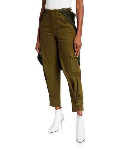 Holzer Satin-Trim Cargo Pants