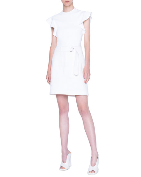 Akris punto Fluttered Cap-Sleeve Jersey Top
