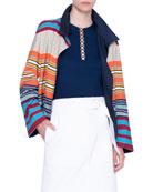 Akris punto Striped Cotton Reversible Jacket and Matching