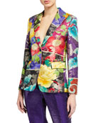 Etro Japanese Floral Brocade Jacket and Matching Items