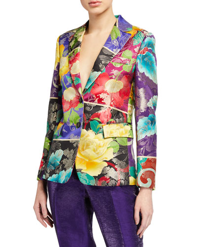 Japanese Floral Brocade Jacket