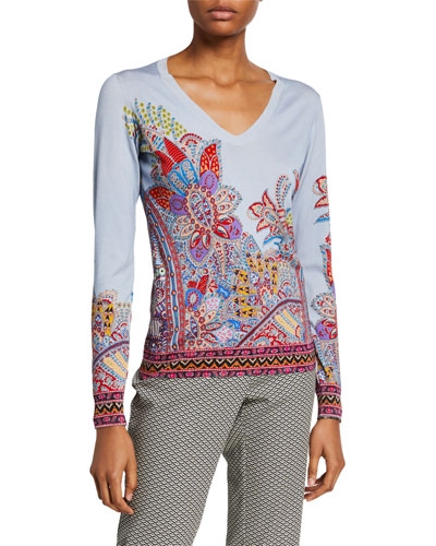 Dreamtime Paisley V-Neck Sweater