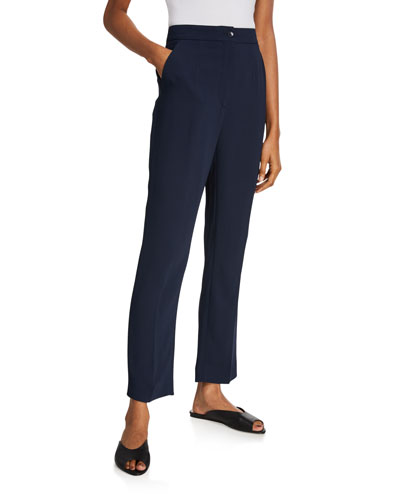 Cady Tapered-Leg Trousers