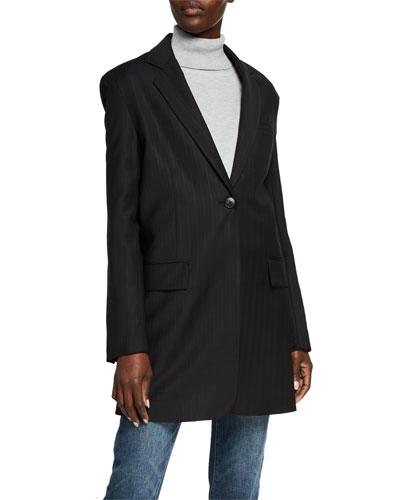 Long Wool Blazer