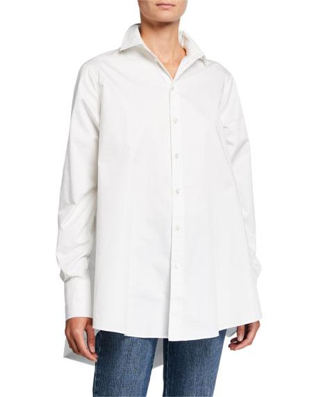 Co Cotton A-Line Button-Front Shirt
