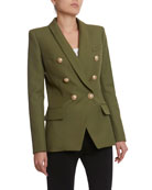 Balmain 6-Button Oversized Grain de Poudre Jacket and