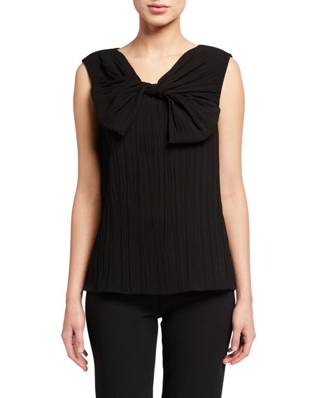 Jason Wu Collection Bow Hammered Satin Top