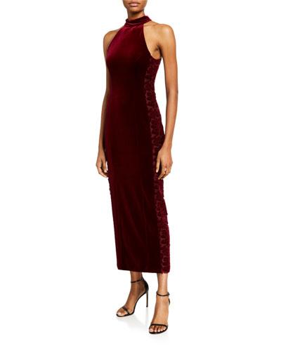 Rosa Velvet Halter Dress