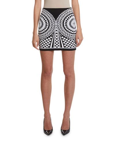 High-Rise Jacquard Skirt