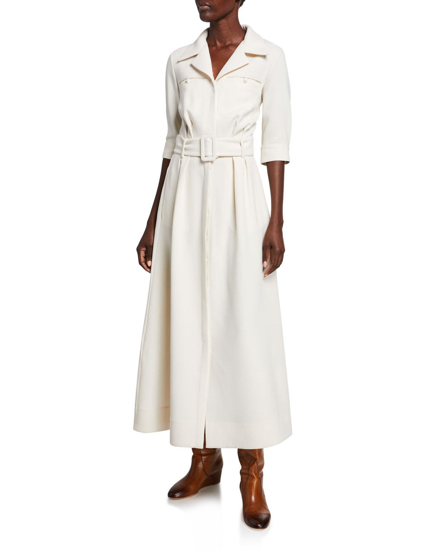 Gabriela Hearst Dresses SIMONE DOUBLE-FACE CREPE DRESS