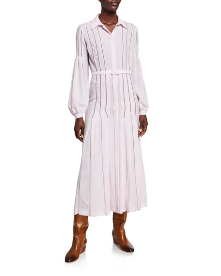 Gabriela Hearst Chelsea Wool-Cashmere Gauze Dress