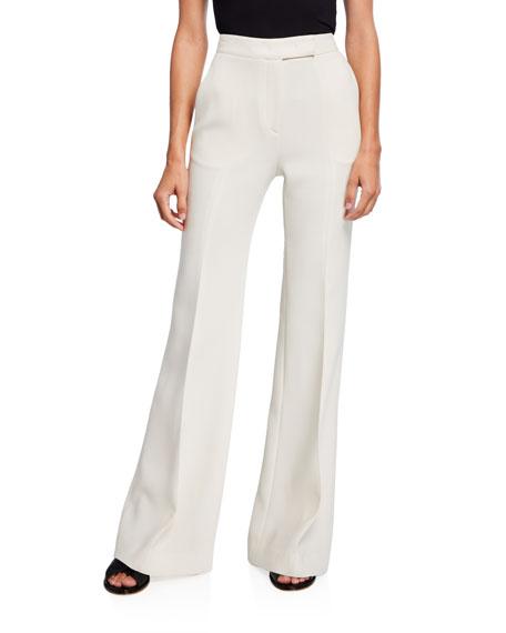 Gabriela Hearst Leda Wide-Leg Crepe Pants