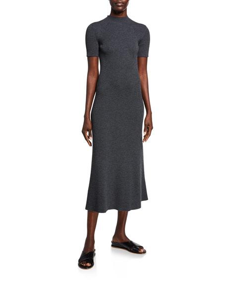 Gabriela Hearst Clare Short-Sleeve Dress