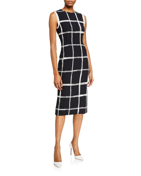 Jason Wu Collection Windowpane Crepe Sheath Dress