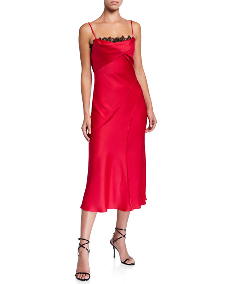Jason Wu Collection Crepe-Back Satin Slip Dress