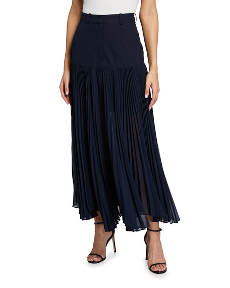 Rokh Fallen Pleat Skirt