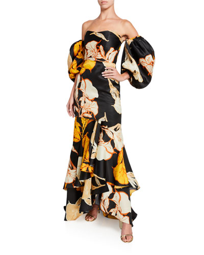 Cosmic Origin Floral-Embroidered Dress